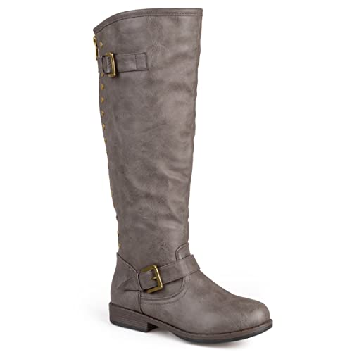 2bb4245ff Journee Collection Womens Regular Sized, Wide-Calf and Extra Wide-Calf  Studded Knee