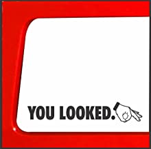 Sticker Connection You Looked Circle Hand Game car Truck 4x4 Funny Decal