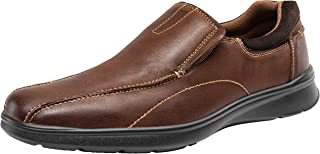 JOUSEN Men's Loafers Leather Casual Slip On Shoes