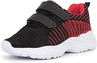 LEKANN 421 - Zapatillas deportivas para niño y niña, cierre de velcro, talla 25-36 EU