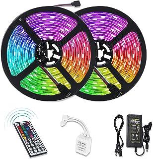 Litake RF Remote LED Strip Lights, 10M/32.8ft 300 LED RGB Color Changing Light Strips, Waterproof Rope Lights SMD 5050 Lig...