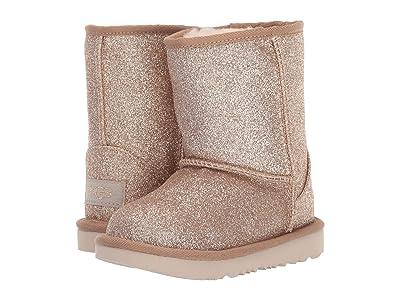UGG Kids Classic Short II Glitter (Toddler/Little Kid) (Gold 1) Girls Shoes