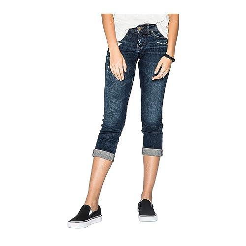 18dd3c11c69 Silver Jeans Co. Women s Suki Curvy Fit Mid Rise Capri