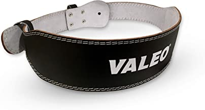 """Valeo VRL4 4"""" Padded Leather Contoured Weightlifting Lifting Belt with Suede Lining"""