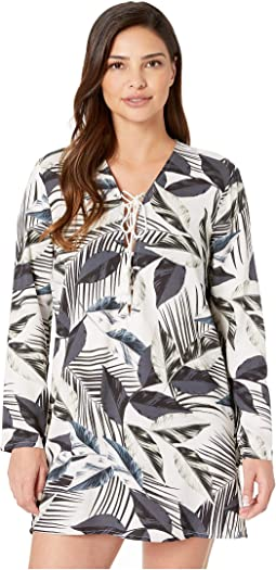 Moment Of Zen Lace-Up Tunic Cover-Up