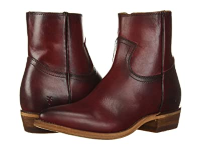 Frye Billy Inside Zip Bootie (Red Antique Pull Up Leather) Women