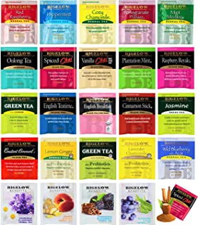 Bigalow Tea Bags Sampler Assortment Variety Pack Gift Box - 49 Count - Perfect Variety - English Breakfast, Green, Black, Herbal, Chai Tea and more …