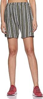 SHETRACTIVE Women's Striped Regular Fit Cotton Shorts