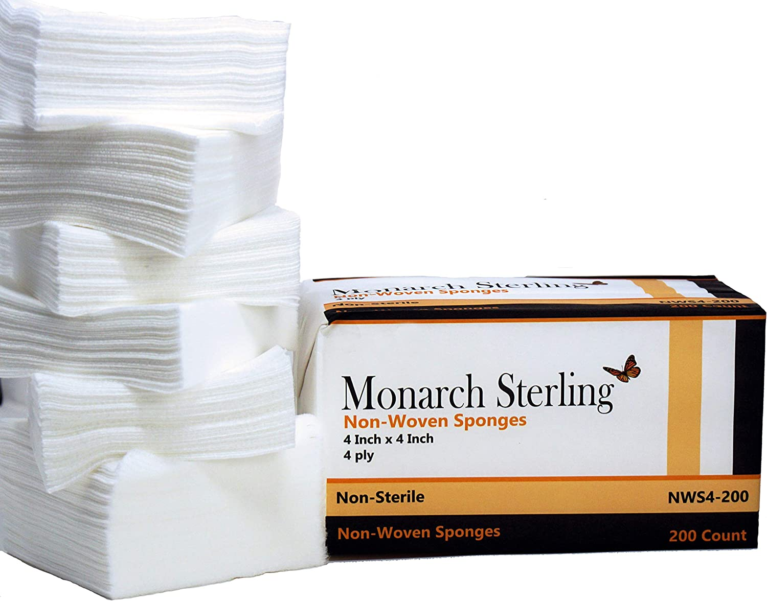 Monarch Sterling Non-Woven Gauze Sponges x Inch ply Reservation New products, world's highest quality popular! 4 N