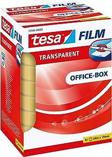 Pack de 8 cintas adhesivas tesafilm transparentes (19mmx66m)
