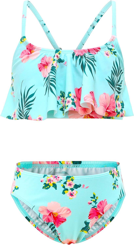 Girls Two Piece Bikini Max 81% OFF 2021 new Swimsuits fo Suit Bathing Floral Hawaiian