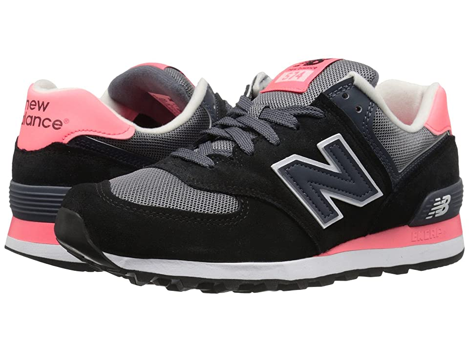 New Balance Classics WL574 Core Plus Collection (Black/Guava) Women