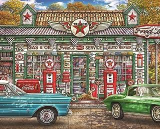 Springbok's 1000 Piece Jigsaw Puzzle Fred's Service Station, Multi