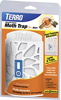 Terro T2950 Closet & Pantry Moth Trap Plus Alert,White
