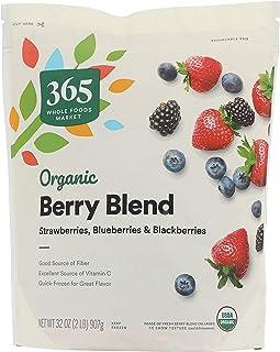 365 by Whole Foods Market, Frozen Organic Fruit, Berry Blend (Strawberry, Blueberries & Blackberries), 32 Ounce