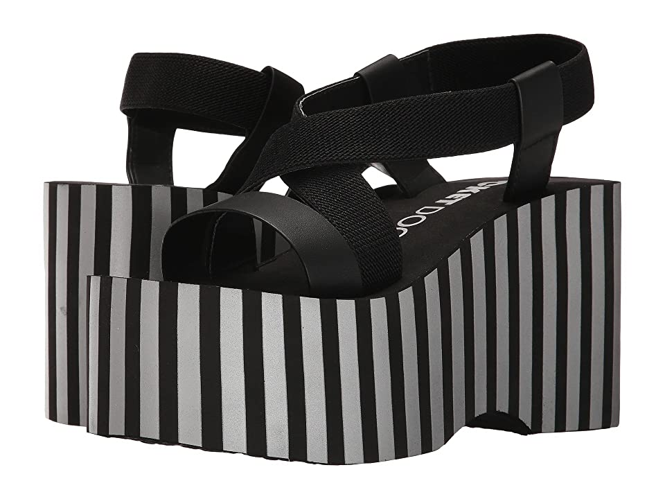 Rocket Dog Bayer Slingback Platform (Black Metallic Stripe) Women