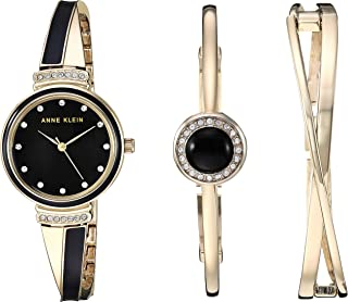 Women's Swarovski Crystal Accented Watch and Bangle Set