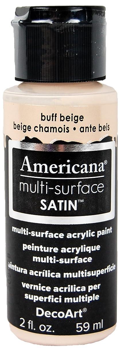 DecoArt DA509-30 Americana Multi-Surface Satin Acrylics Paint, 2-Ounce, Buff Beige