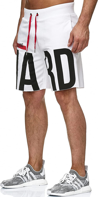 Red Bridge Pantal/ón Corto Casual de Verano para Hombre Impresi/ón Bermuda Shorts