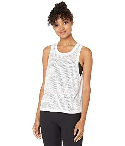 Beyond Yoga Mesh Me Up Muscle Tank (White) Women