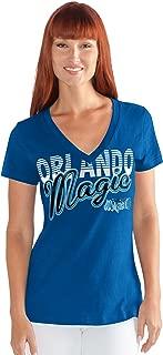 G-III Sports NBA Orlando Magic Women's 1St Down V-Neck Tee, X-Large, Royal