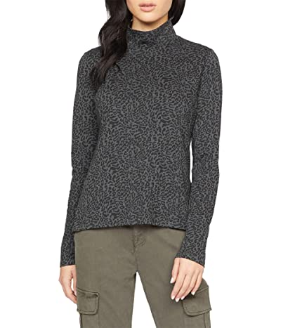 Sanctuary On A Roll Turtleneck Tee (Nocturnal Animal) Women