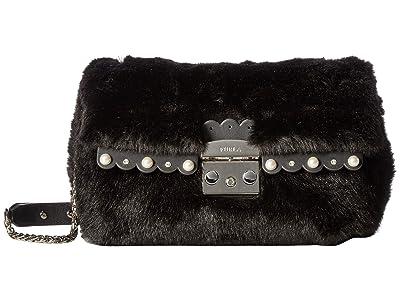 Furla Metropolis Nuvola Small Shoulder Bag (Onyx) Bags
