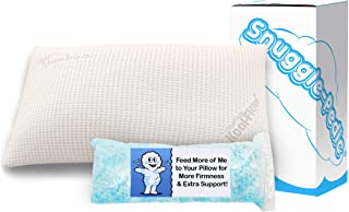 Snuggle-Pedic Supreme Plush Ultra-Luxury Hypoallergenic Bamboo Shredded Gel-Infused Memory Foam Pillow Combination with Ad...