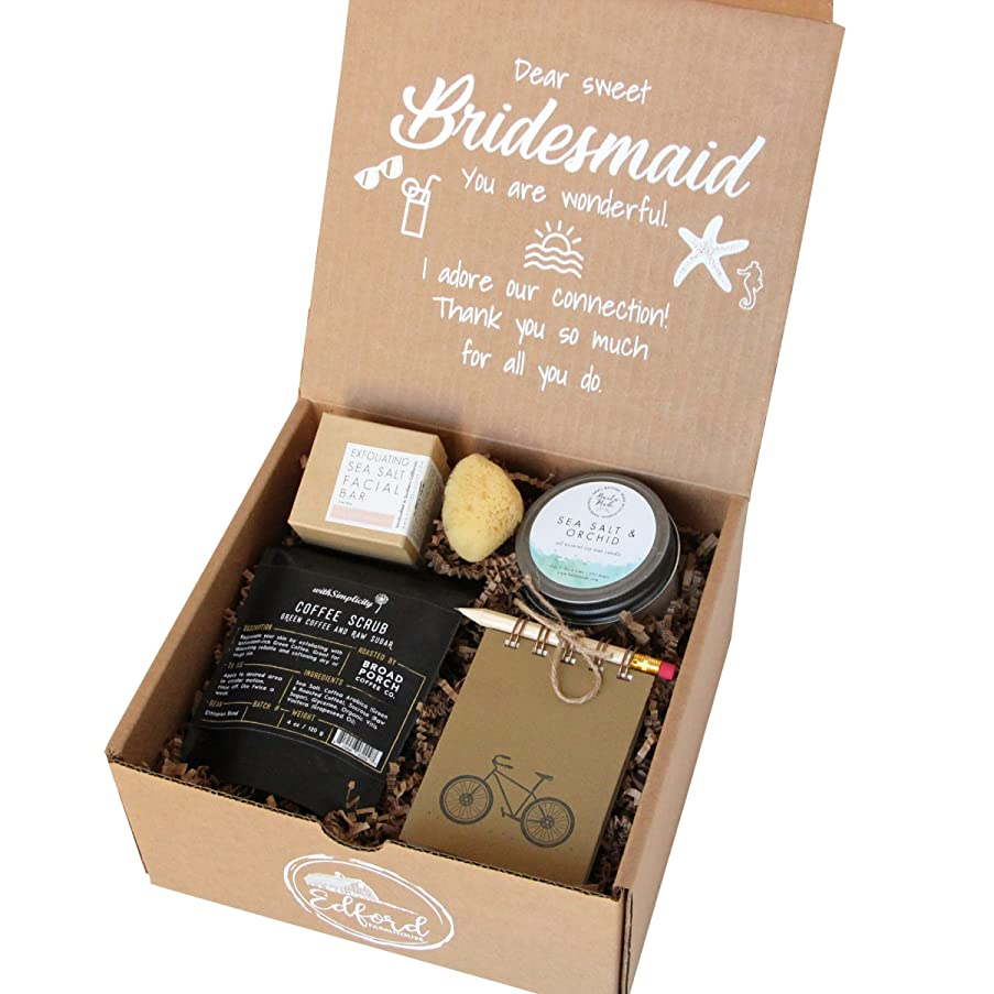 Seaside Bridesmaid Gift All-Natural Kraft 'for You' Gift Box Includes Collection of Bath & Body Products Organic Beauty Wedding Favor