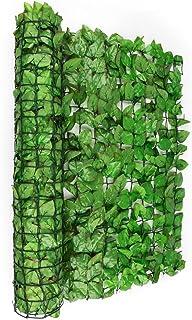 blumfeldt Fency Dark Ivy - Valla de protección Visual, Pantalla antiviento, Malla de sombreo, Cubierta Exterior, Pantalla de privacidad, para balcón terraza jardín, Imitación Haya, Verde Claro