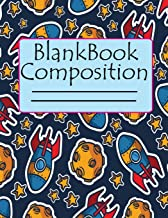Blank Composition Book: Primary Planner Blank Wide Ruled, Diary Writing Short Notes, Create Space and Records do-it Homework for Students with Matte Cover