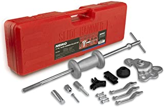 Neiko 02236A Automotive Slide Hammer Puller Kit, 17 Piece | Steel T Handle Bar with Cr-V Steel Jaw Attachments