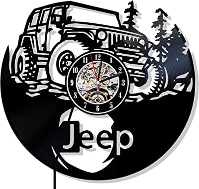 18 inch diameter X 1 inch thick Jeep Girl white pine clock face.