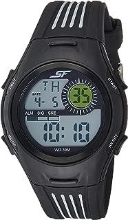 Sonata Fibre (SF) Digital Grey Dial Men's Watch-77072PP04