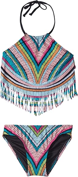 Weave Rider Fringe Tankini and Hipster Set (Big Kids)