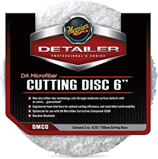 "Meguiar's DMC6 DA 6"" Microfiber Cutting Disc, 2 Pack"