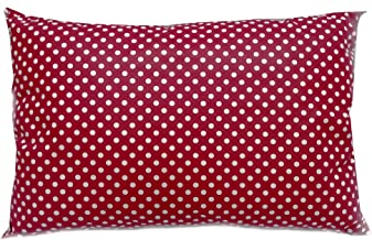 Soft Polycotton Pillow By Valentini Red Queen Size 50 X 75 cm