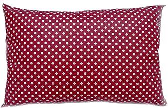 مخدة بولي كوتن احمر منقطة ناعمة من فالنتيني كوين مقاس : 50x75 سم