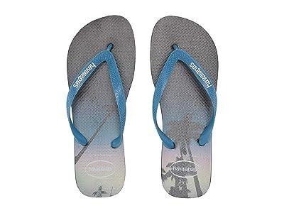 Havaianas Hype Flip Flops (Navy Blue/Blue Star/White) Men