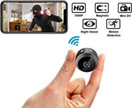 Mini Hidden Spy Camera Wireless HD 1080P Indoor Outdoor Home Small Cam Security Nanny Cop Cameras, Built-in Battery with Motion Detection Night Vision Video Recorder for iPhone Android PC [Upgraded]