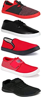 WORLD WEAR FOOTWEAR Sports Running Shoes/Casual/Sneakers/Loafers Shoes for MenMulticolors (Combo-(5)-1219-1221-1140-748-785)
