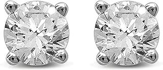 Diamond Jewel 14K Gold Round Diamond Stud Earrings