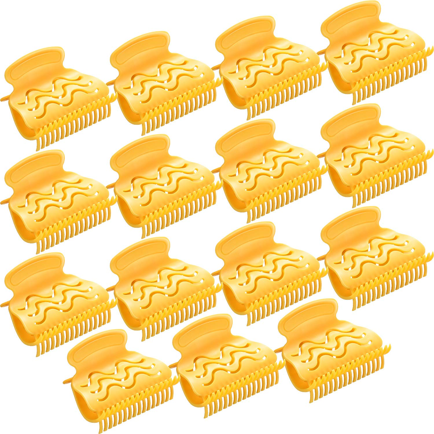 Hot Roller Clips Hair Curler Claw Clips Plastic Hair Rollers for Small, Medium, Large and Jumbo Hair Rollers (15 Packs, Style A)