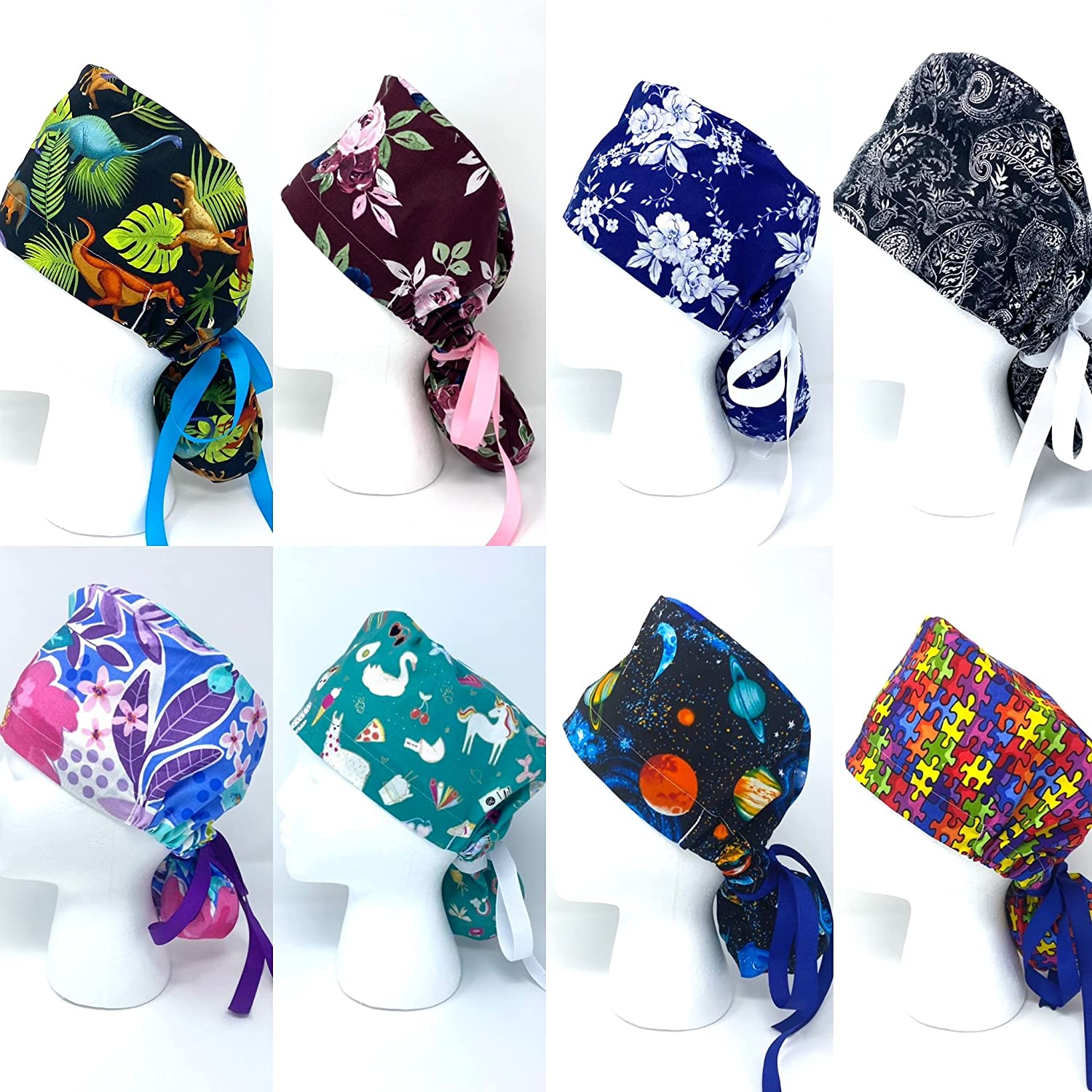 Women's Surgical Hat Max 54% OFF Bright OFFicial store Scrub Floral