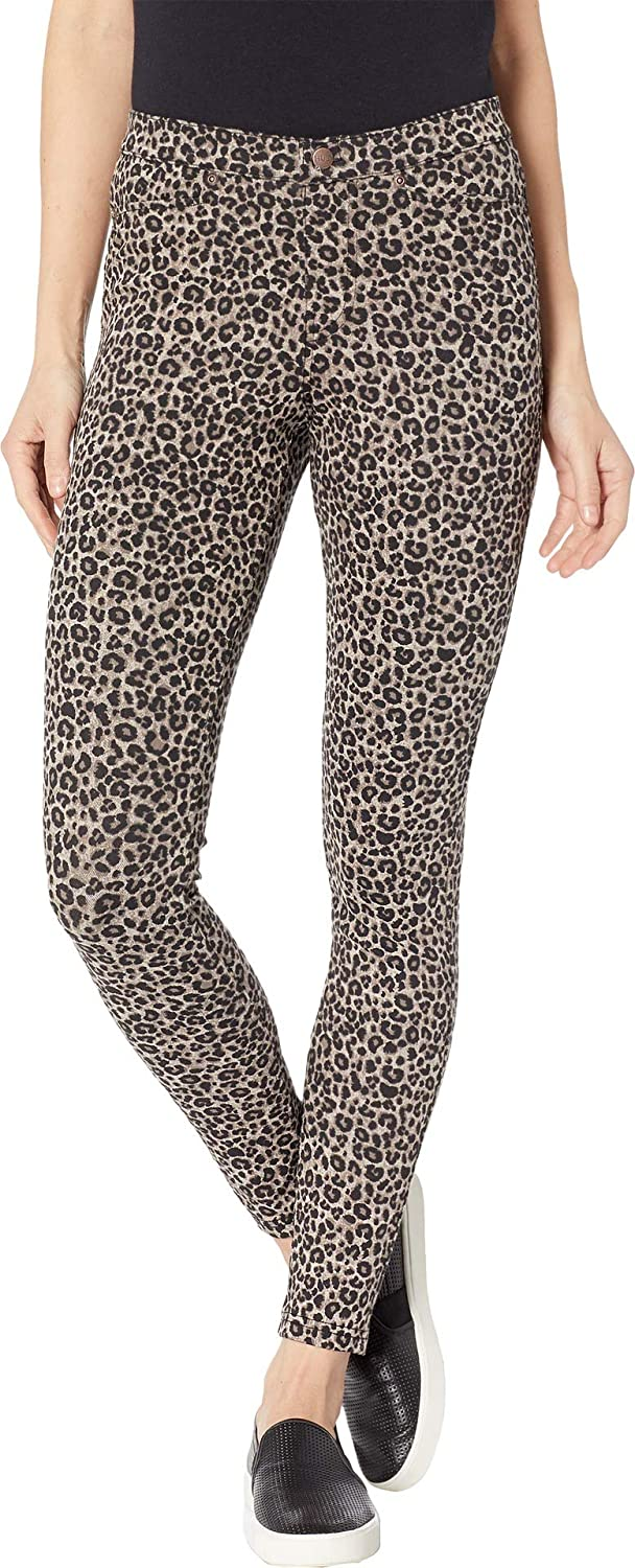 Hue Womens Leopard Denim Leggings