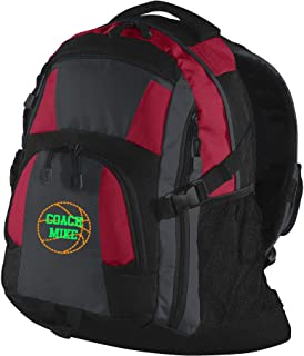 backpack with basketball design