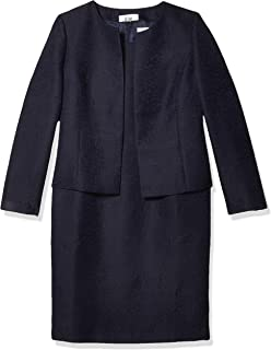 Women's Jacquard Open Jacket Dress Suit