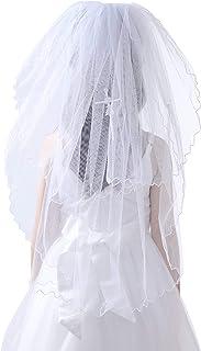 Glamulice Flower Girl اولین محفل حجاب سفید توری Mantilla حجاب عروسی تعمید تعمید Headpiece