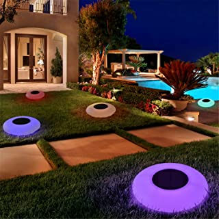 Blibly Solar LED Lights Inflatable,Swimming Pool Lights Solar Floating Light Floating Pool Lights with Multi-Color LED Wat...
