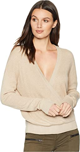 Cashmere Blend Surplice Sweater